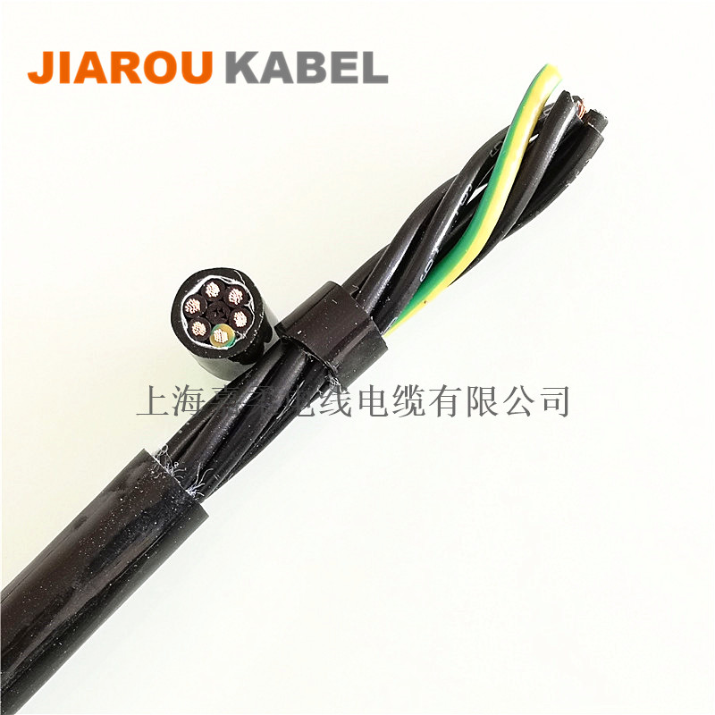 TPU聚氨酯拖链电缆(高端型,特殊恶劣工况使用)